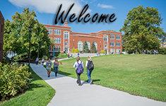 Welcome to campus virtual tour graphic
