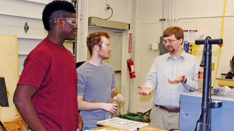 Jacob Moore and Engineering Students