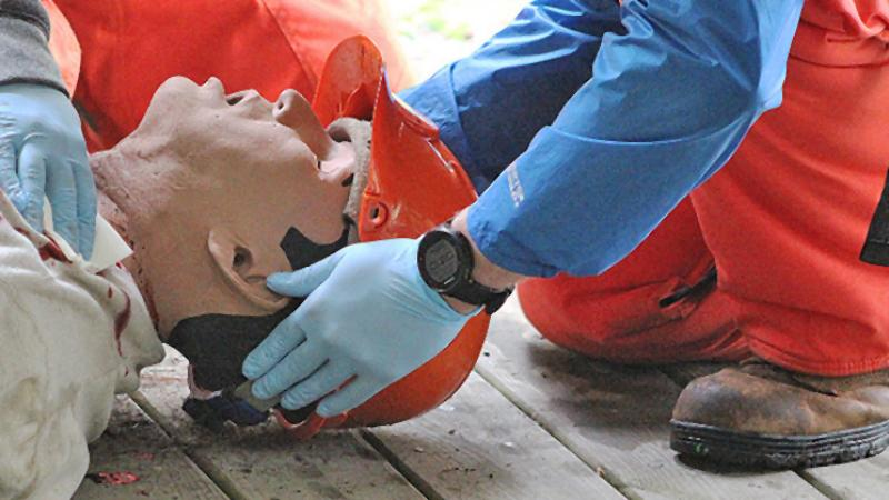 iStan is used to portray an injured Forestry student who must be tended to medically in the field then evacuated for care