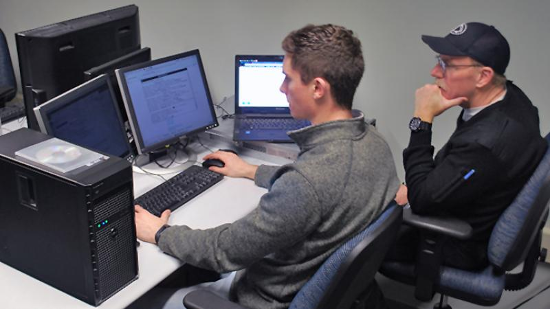 Dayne Connor works with IST faculty to develop two different capstone projects