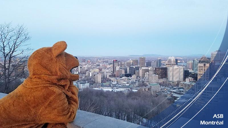 The Nittany Lion accompanied the Alternative Spring Break student from Penn State Mont Alto to Montreal