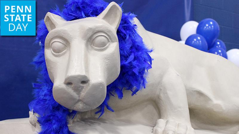 Nittany Lion celebrates Penn State Day