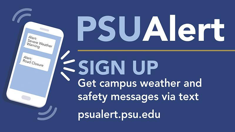 PSUAlert Signup Graphic