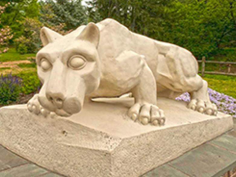 Nittany Lion Shrine in springtime