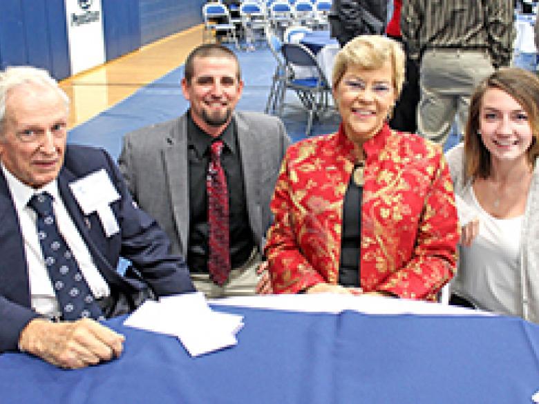 Scholarship recipients meet alumni benefactors