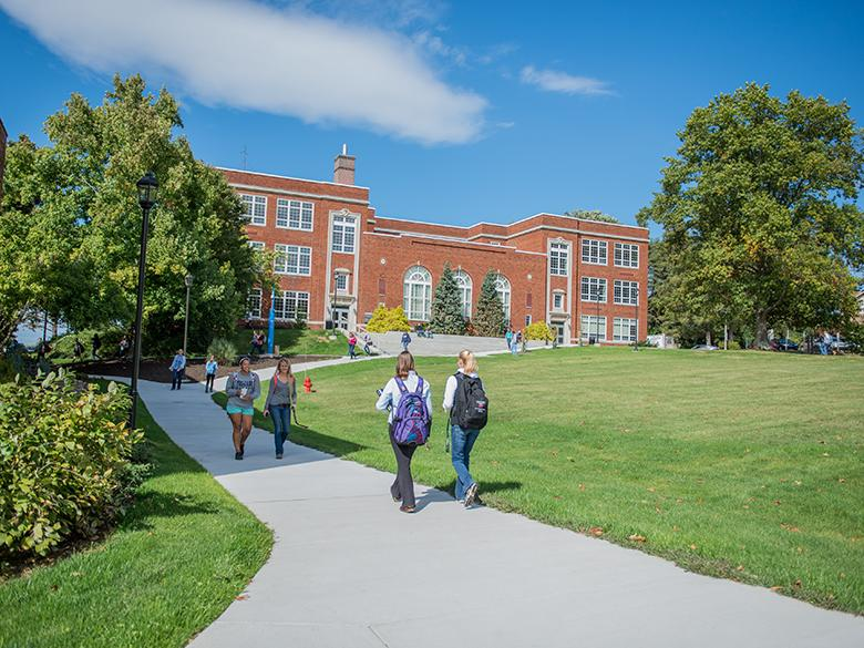 Penn State Mont Alto students walk to class.