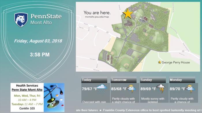 Digital signage screenshot