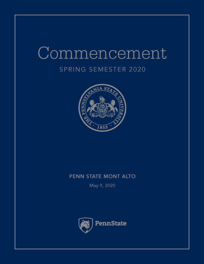 2020 Commencement Program Cover