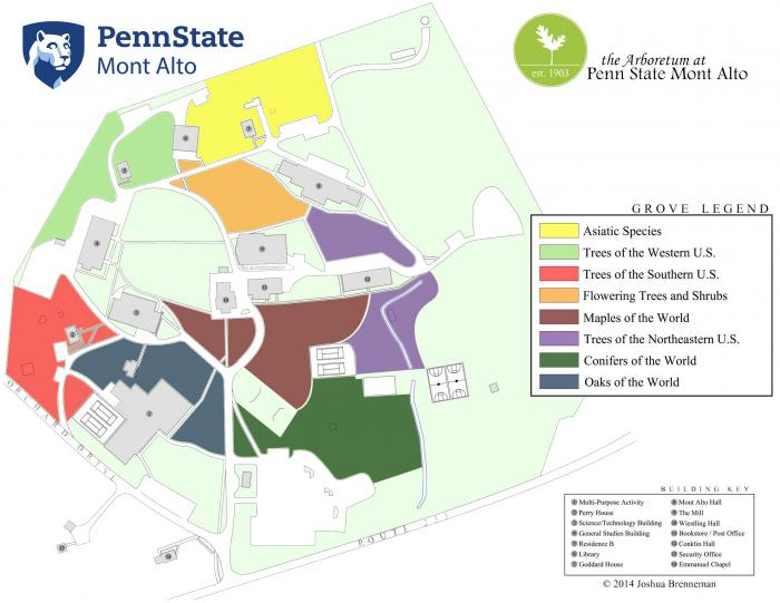 Goddard Campus Map.Groves Map Penn State Mont Alto
