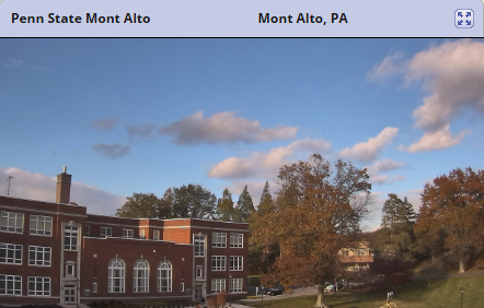 Sample image of Penn State Mont Alto Weather Camera View