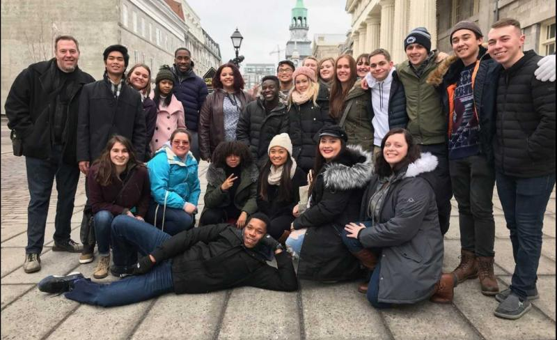2018 Alternative Spring Break Student Group from Penn State Mont Alto in Old Town Montreal