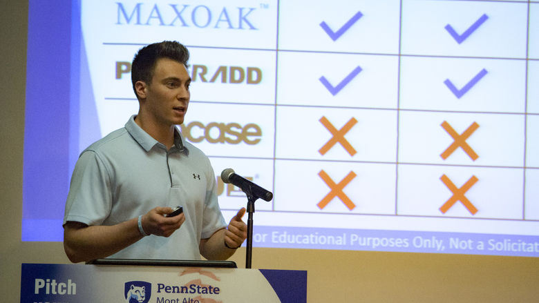 LION Tank participant pitches business idea at Penn State Mont Alto