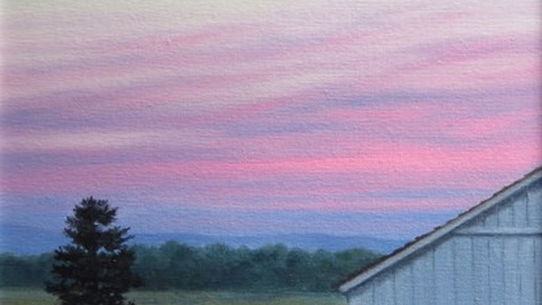 Bryan Farm Sunset by Freya Qually