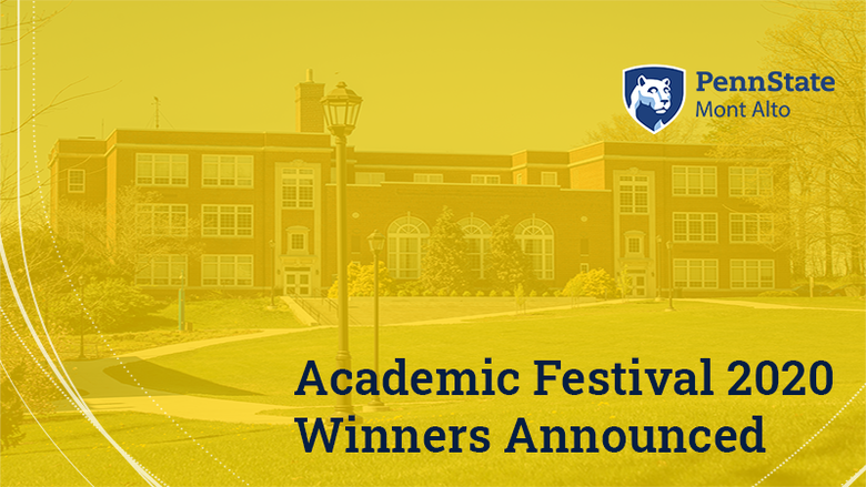 Academic Festival winners graphic Penn State Mont Alto