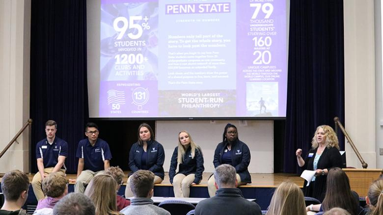 Admissions team and Lion Ambassadors answer questions about Penn State