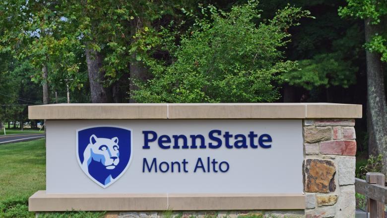 Penn State Mont Alto Entrance Sign