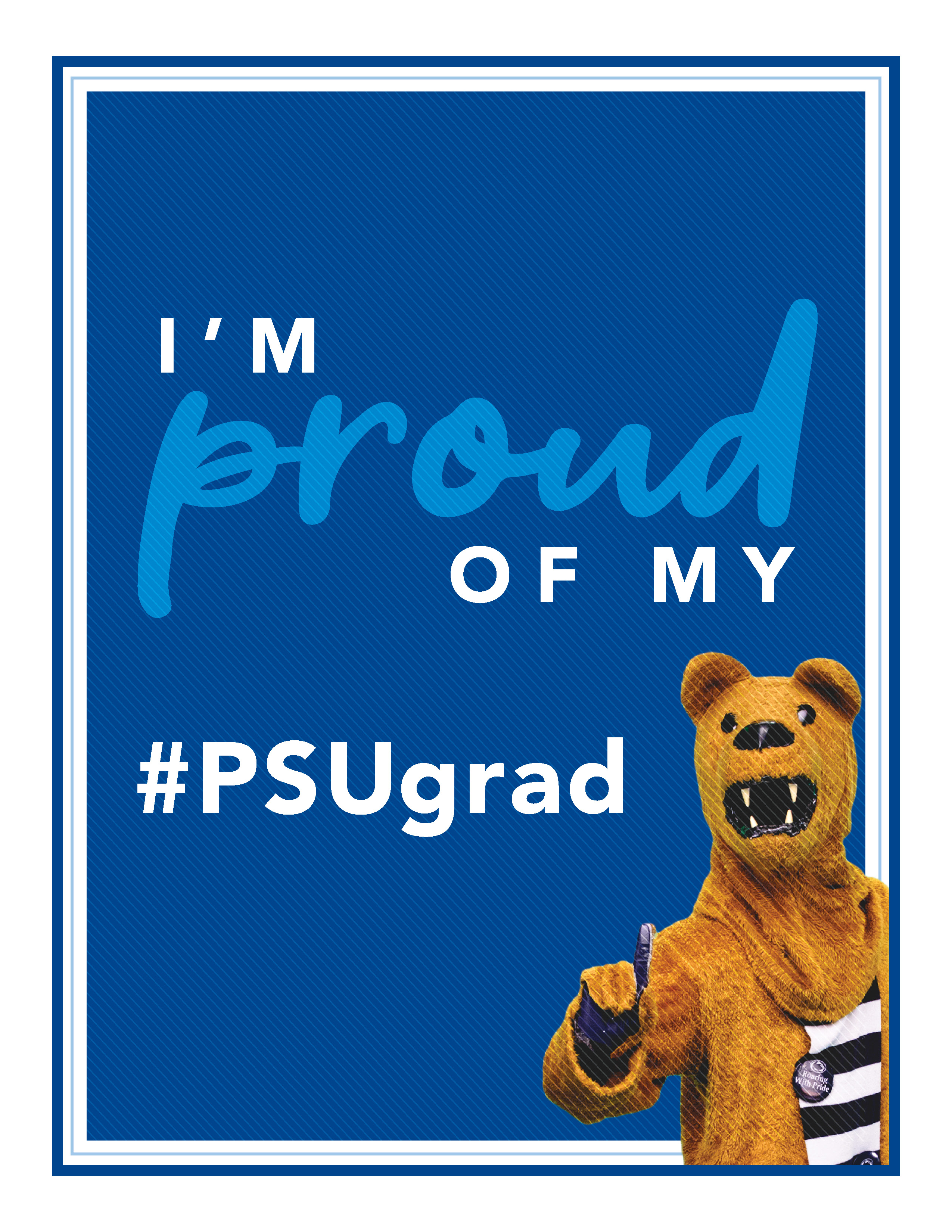 "Nittany Lion ""Proud of my PSUgrad"""
